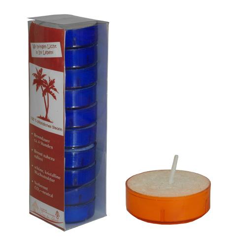 Teelichte in farbigen Kunststoffhülsen (orange)