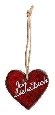 Herz rot -Ich liebe dich-