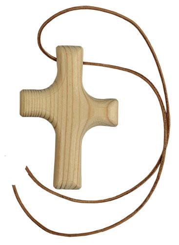 Asymetrisch gestaltetes Holz für Ministranten, Kommunion oder Konfirmation oder einfach so.