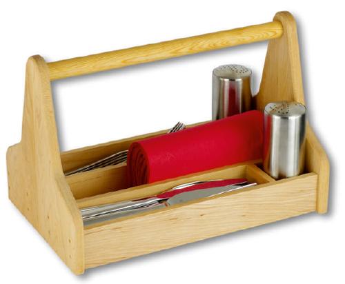 So finden Messer, Gabel, Servietten, Salz- und Pfefferstreuer Platz auf Ihrem Tisch.