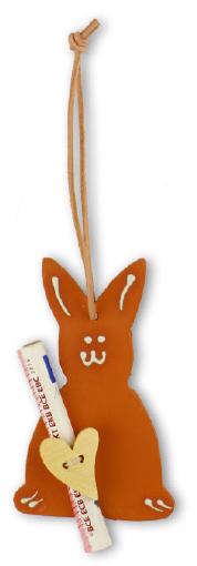 Sie möchten einen Geldschein an Ostern verschenken? Dann ist unser Geldgeschenk Osterhase mit Herz genau die richtige 'Verpackung' dafür.
