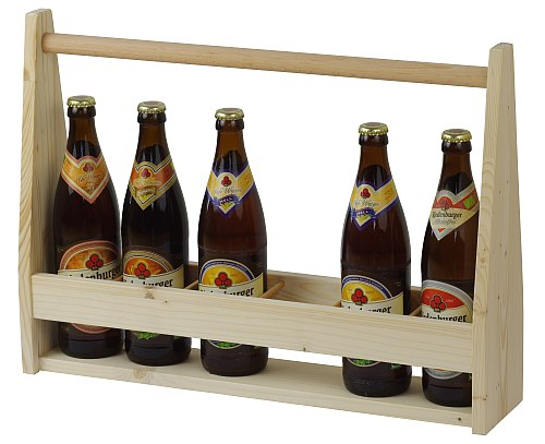 Praktischer Flaschenträger für bis zu 6 Flaschen