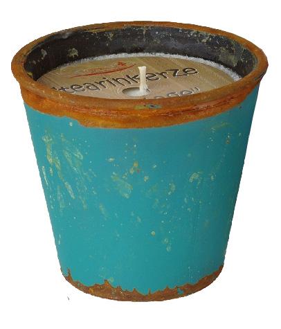 Kerze -Vintage- Ice-blue