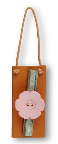 Geldgeschenk -Blume rosa-